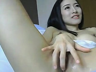 Asian Chick Toys her Pussy and gets Tall Orgams