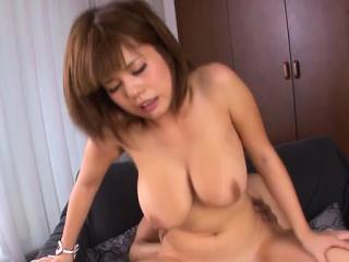 Riveting Airu Oshima with Herculean tits getting nailed
