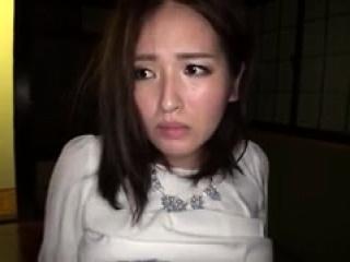 Razor-sharp Asian girl in lingerie toys her meaty