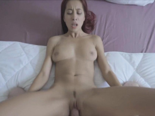 Redhead Asian show one's age fucked hard