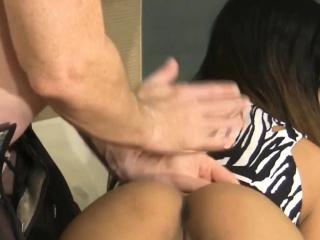 Asian cute babe gets hard nailed