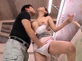 Stunning elder statesman japanese nurse gets her large scoops felt up