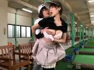 Japanese schoolgirl fucking in got up uniform