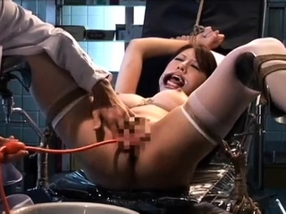 Butt plugged stockings clad fetish hoe toys her pussy